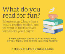 What do you read for fun? Tell us in our short survey!